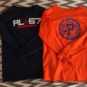 Two long sleeve Ralph Lauren tees in size 6